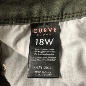 curve appeal Jeans - Green pants